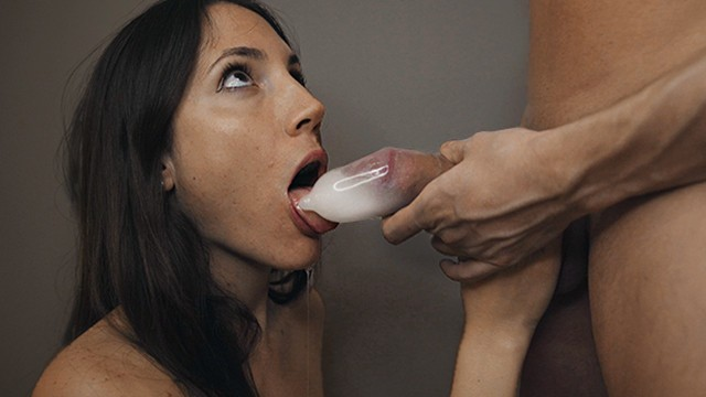 Condom Blowjob and Spill all on my Mouth